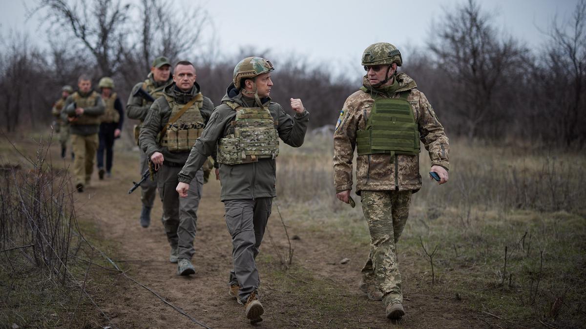 Tropas rusas en la frontera con Ucrania.