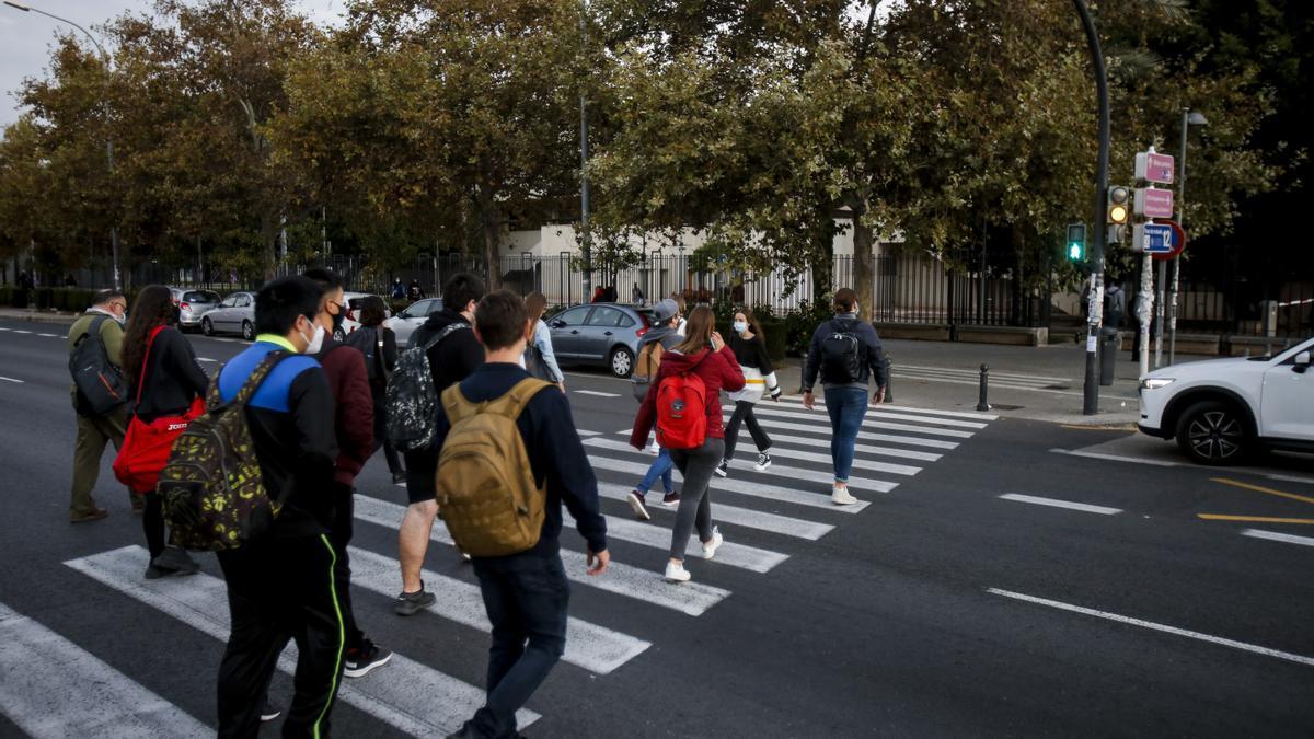 Estudiantes universitarios en Tarongers.