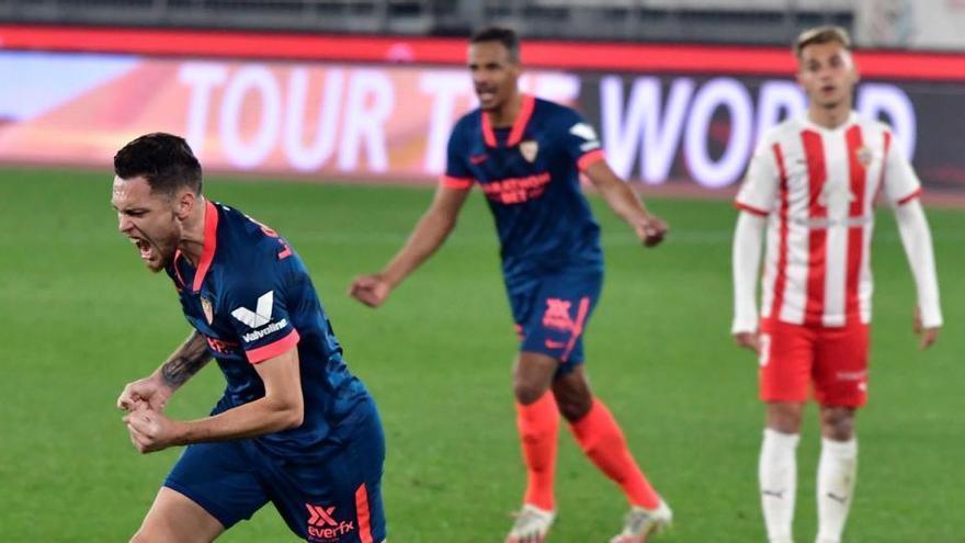 El Sevilla, primer semifinalista de la Copa tras acabar con el sueño del Almería