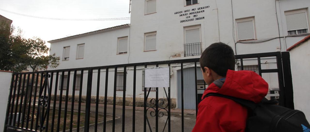 Cuartel de la Guardia Civil en Cocentaina, donde se atienden denuncias de toda la comarca.