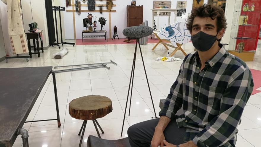 Los muebles reciclados de estilo industrial protagonizan una exposición en El Muelle