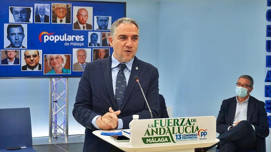 Elías Bendodo será elegido hoy para su cuarto mandato como presidente provincial del PP