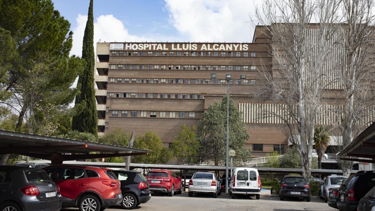 El Hospital Lluís Alcanyís en una imagen de esta semana