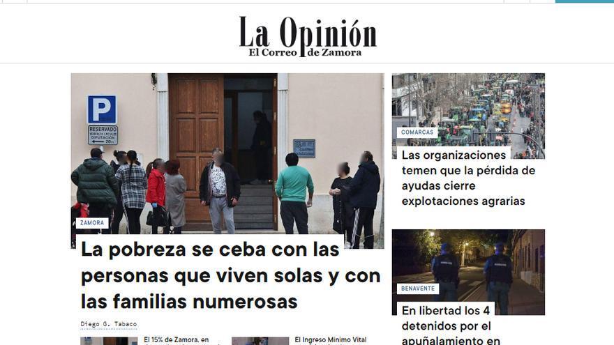 La Opinión de Zamora estrena nuevo diseño en su web, una experiencia multidispositivo más intuitiva y dinámica