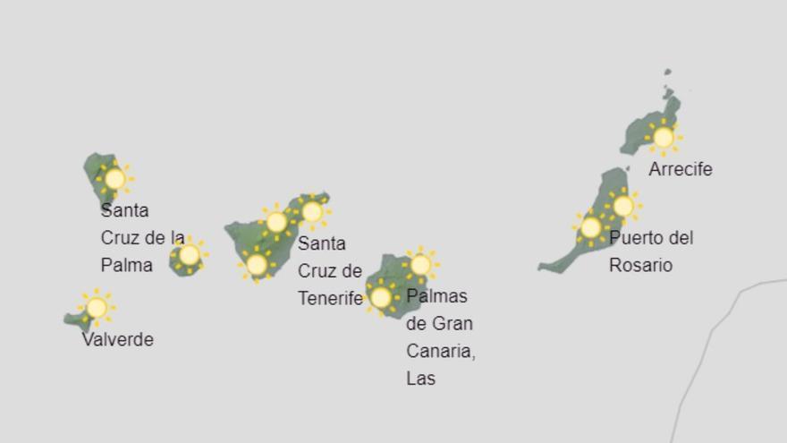Restos de calima todavía este viernes en Canarias