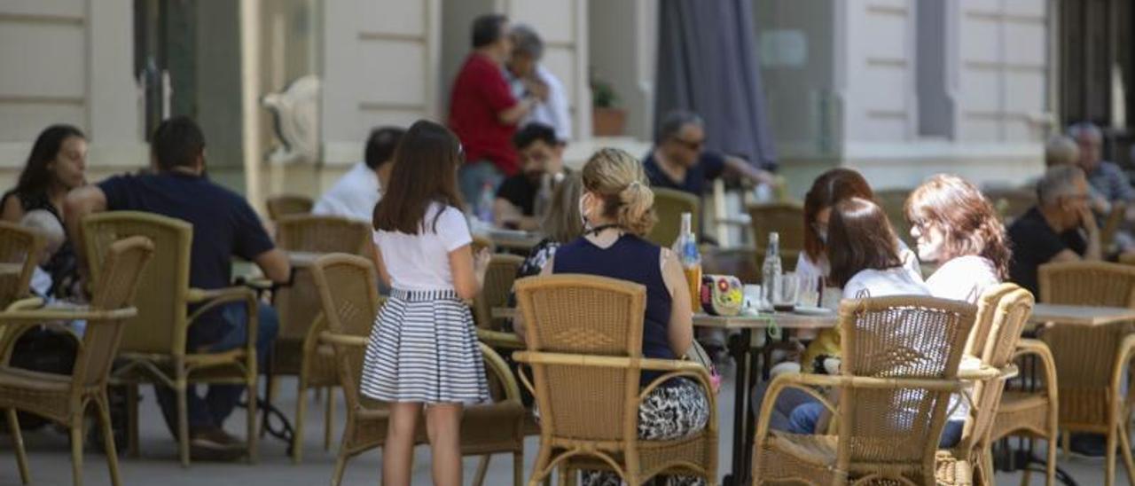 Una de las terrazas emplazadas en la zona de L'Albereda. | PERALES IBORRA
