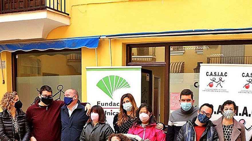 La Fundación Unicaja,  con los discapacitados de Antequera