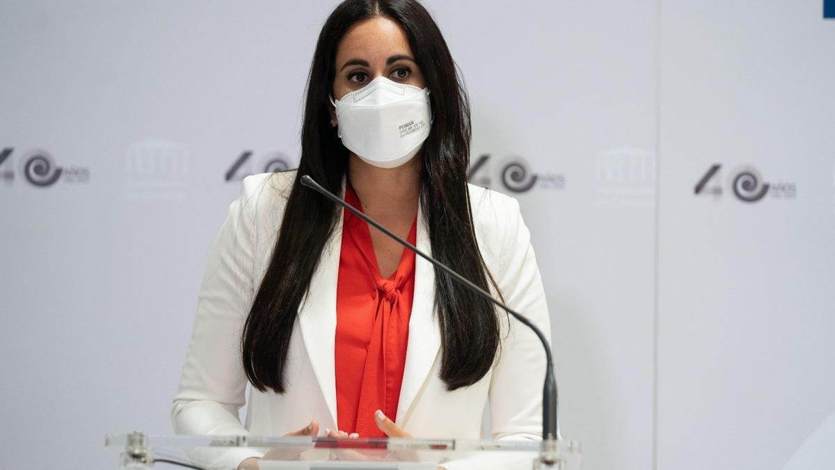 La portavoz del Grupo Mixto en el Parlamento de Canarias, Vidina Espino.