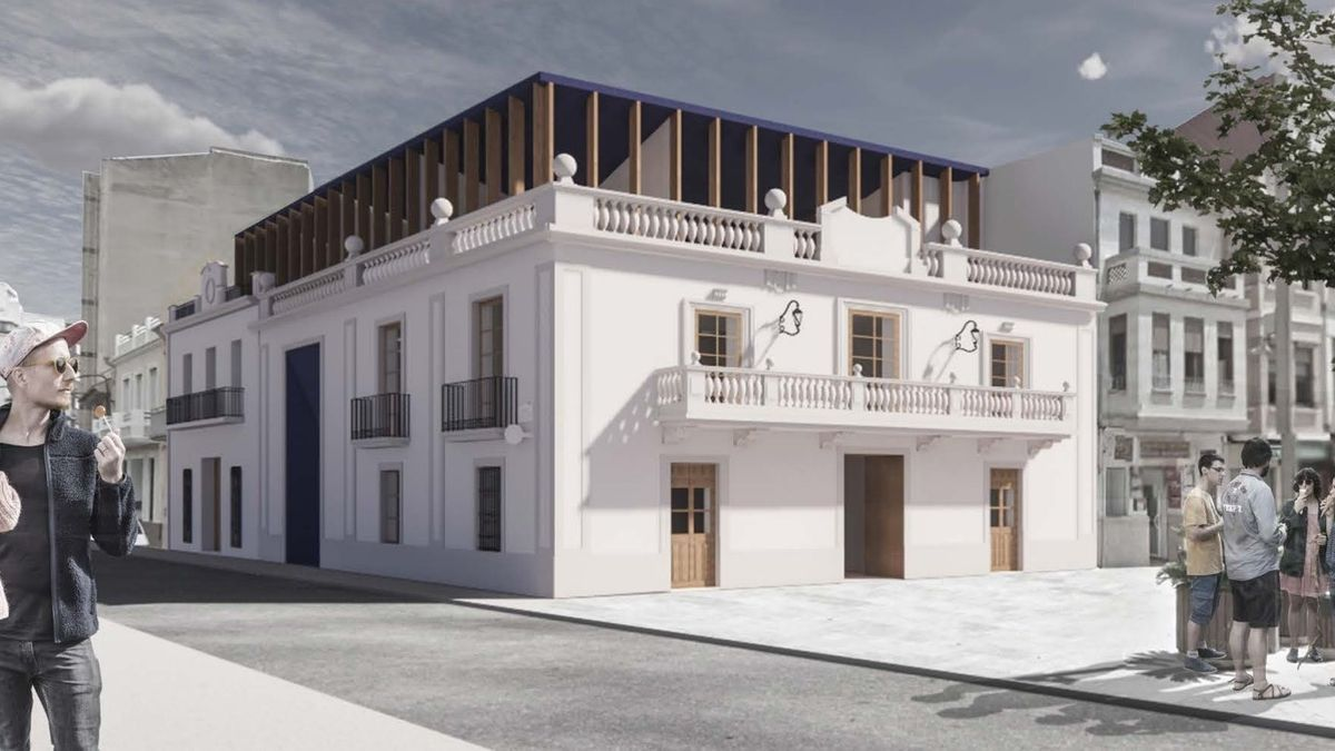 Recreación virtual del proyecto ganador para remodelar el Ayuntamiento e Foios.