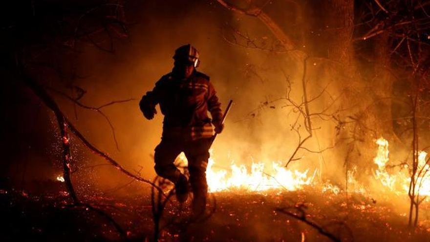 Asturias registra 37 incendios forestales, 14 de ellos activos