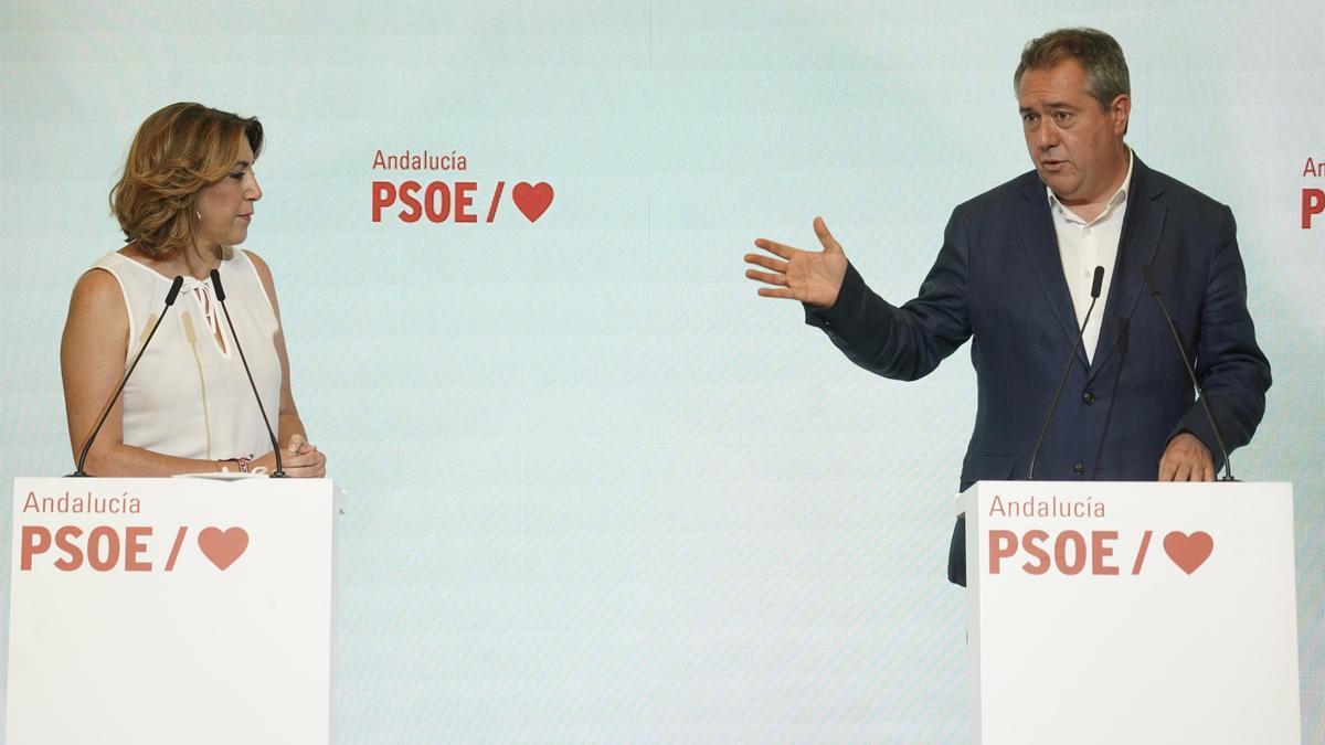 Rueda de prensa conjunta de Susana Díaz y Juan Espadas