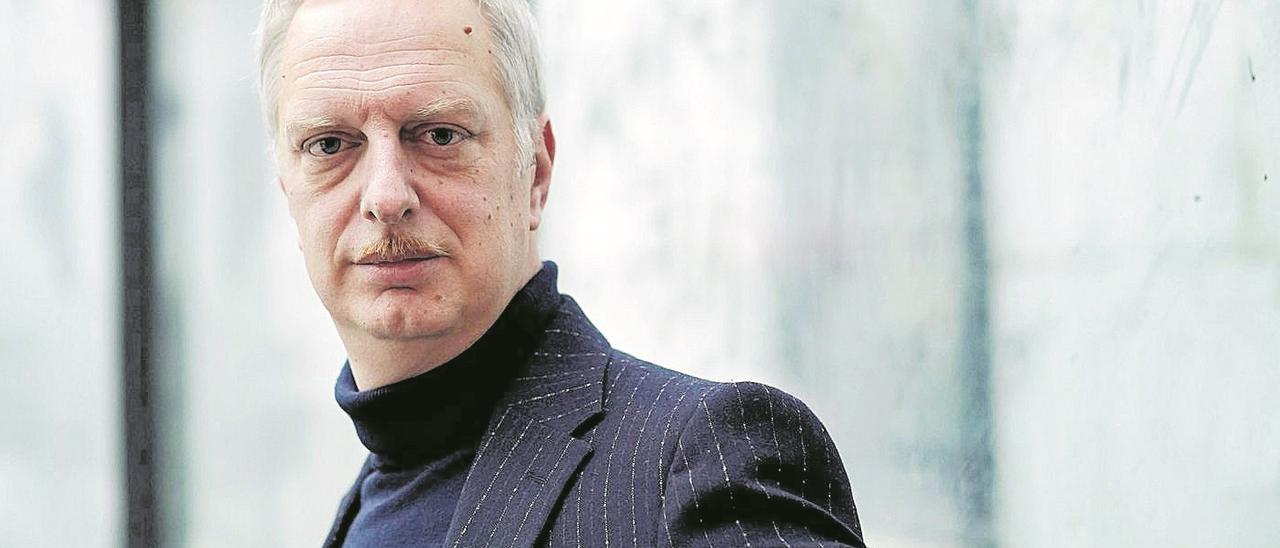 El autor italiano Antonio Scurati,  en una reciente visita a  Madrid. josé luis roca