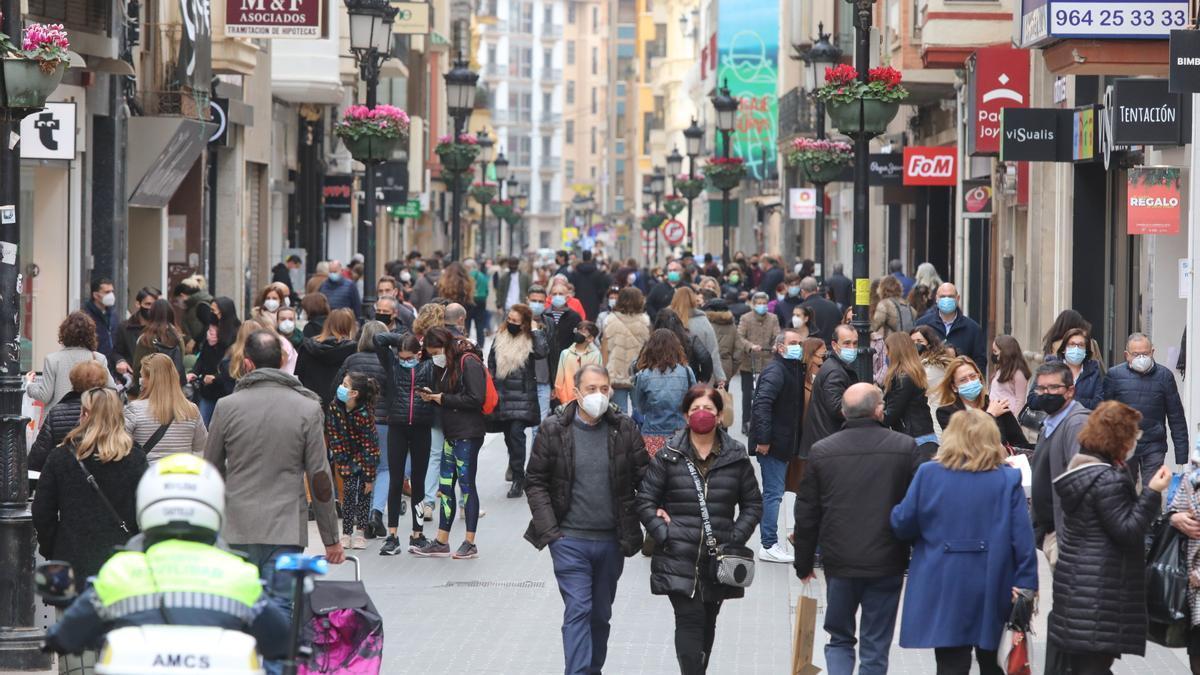 Imagen de archivo del centro de Castelló cuando había cierre perimetral.