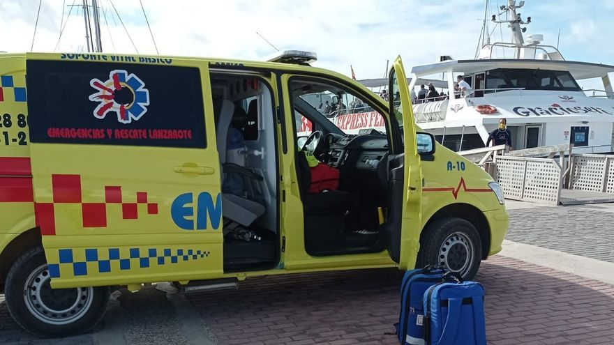 Un buceador, en estado moderado tras sufrir un accidente en costa La Graciosa