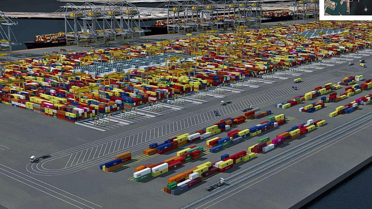 Proyecto de terminal que planifica TiL-MSC en la ampliación norte del puerto. | LEVANTE-EMV