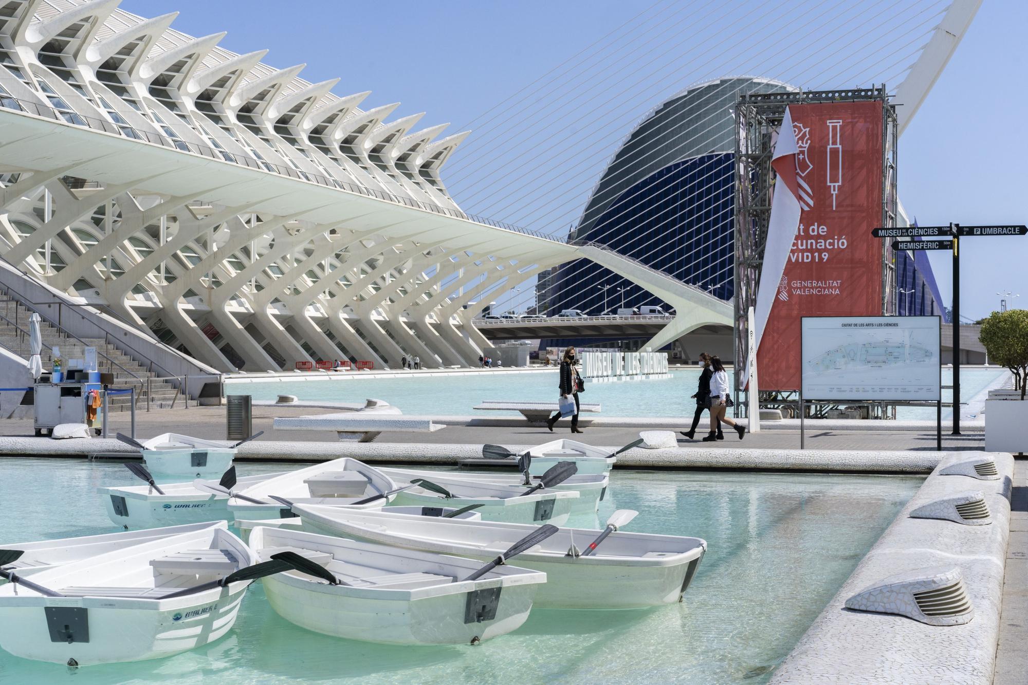 La Ciudad de las Artes se prepara para convertirse en el macropunto de vacunación covid