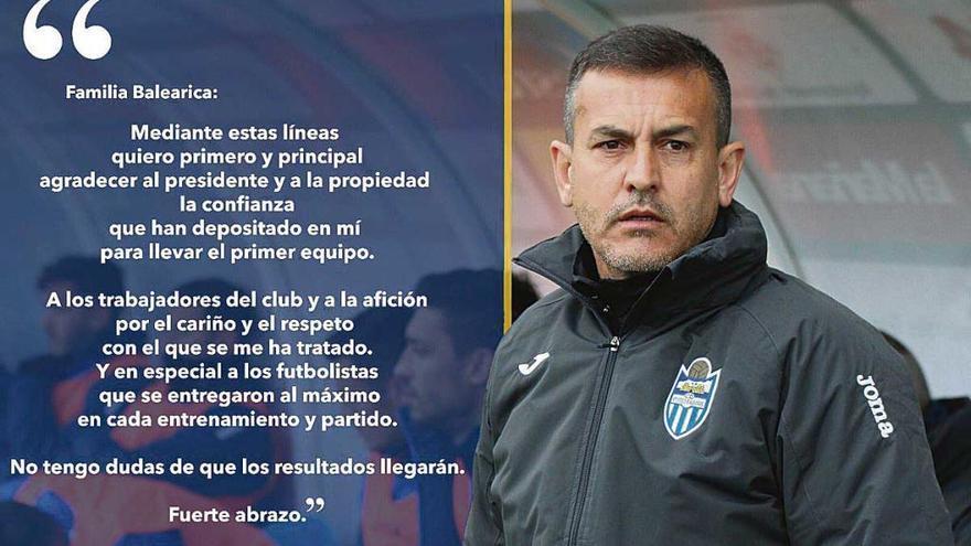 Melgarejo se despide de la afición del Atlético Baleares
