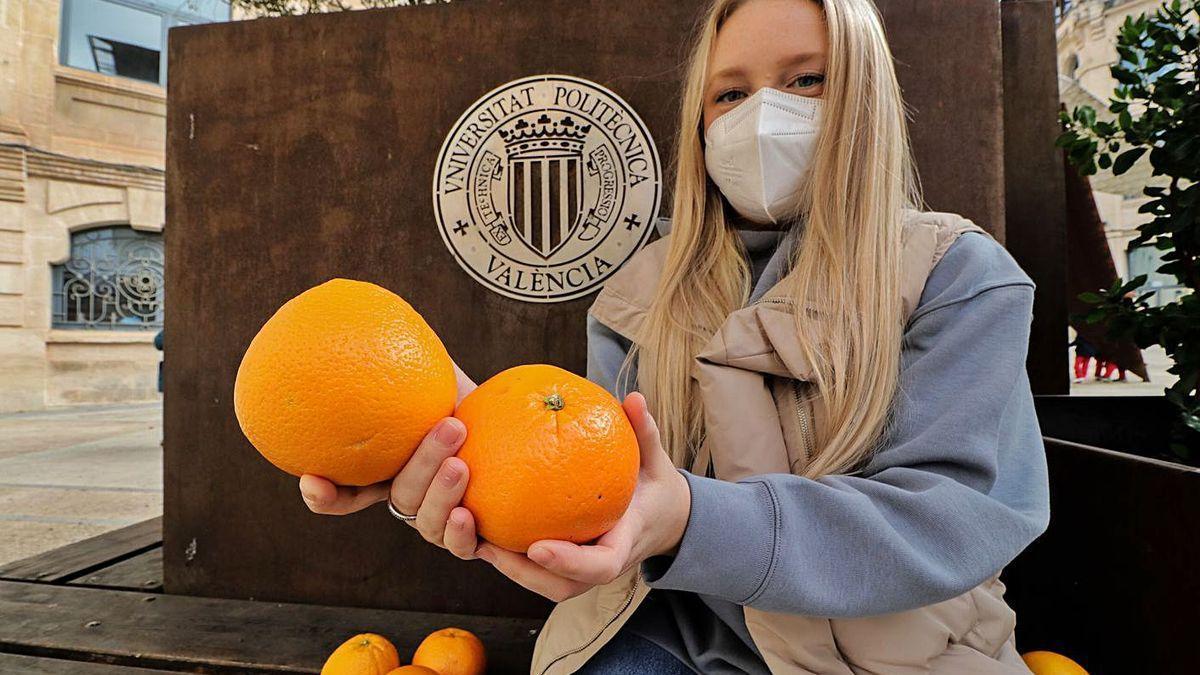 Karina Santamaría, creadora del proyecto para reutilizar los residuos de las naranjas