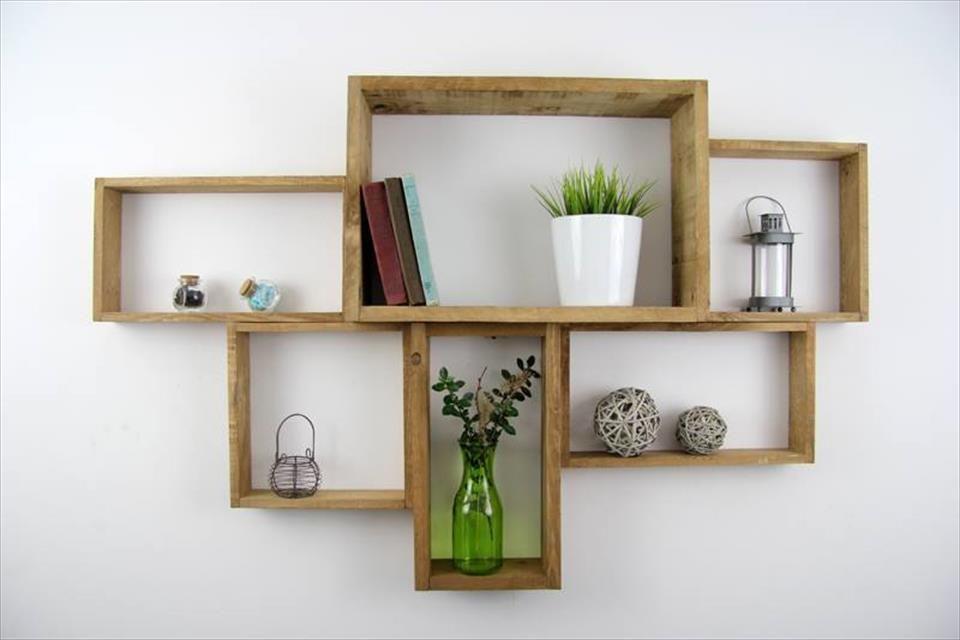 Ideas para crear estanterías con palets