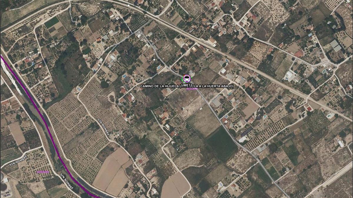 Lugar del accidente en Molina de Segura