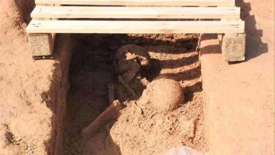 Localizan un cementerio de la época bizantina en Sant Francesc