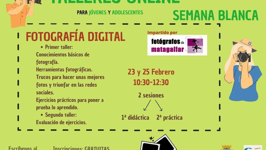 Taller online: Fotografía digital
