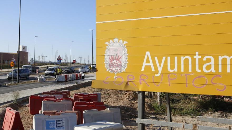 Obras en la Vía Parque de Alicante