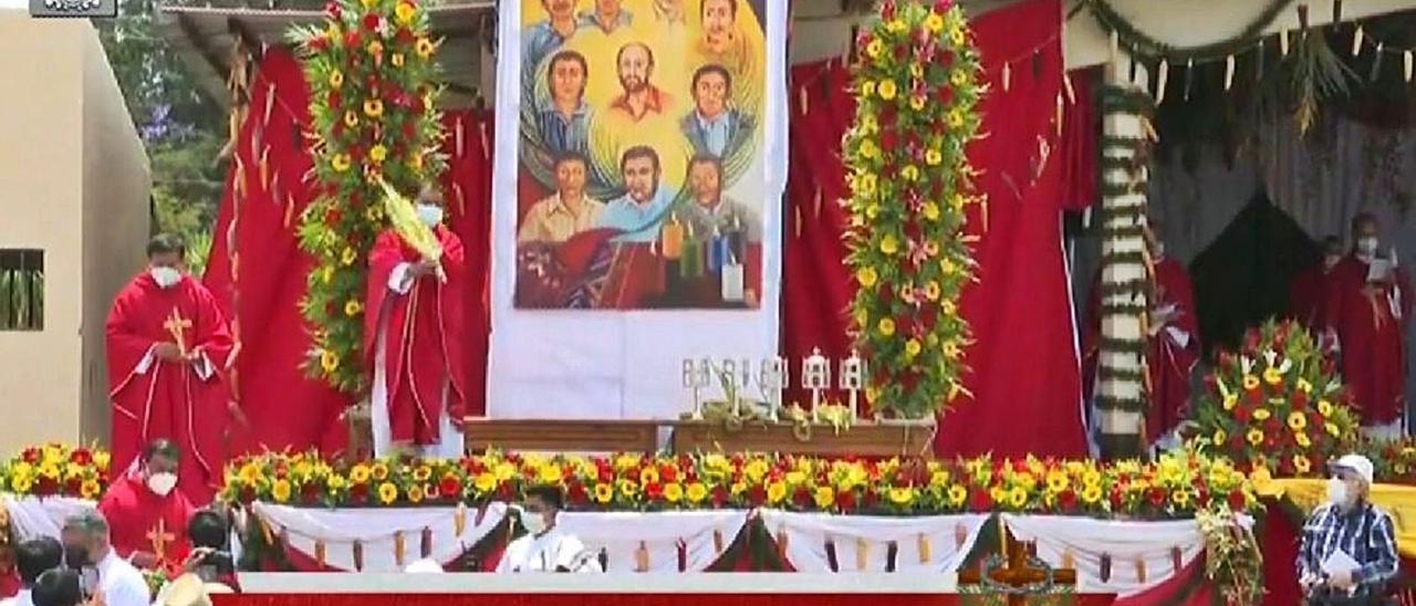 La ceremonia de beatificación de Juan Alonso en El Quiché (Guatemala), el pasado mes de abril. | L. C.