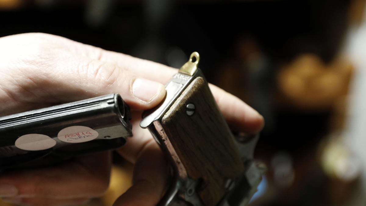 Un arma del depósito de la Guardia Civil.