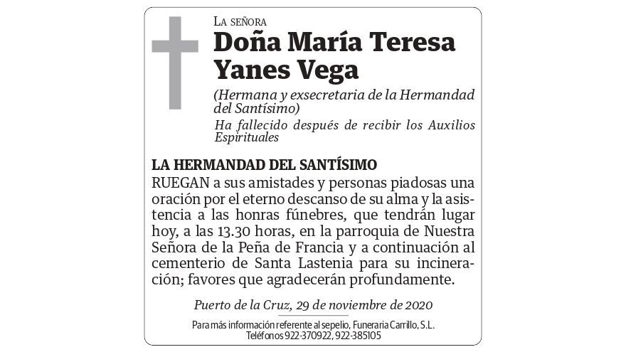 María Teresa Yanes Vega