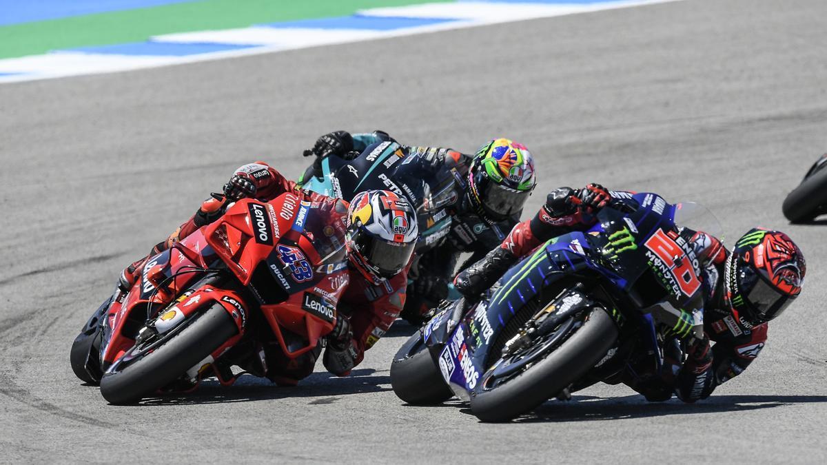 Carrera de MotoGP.