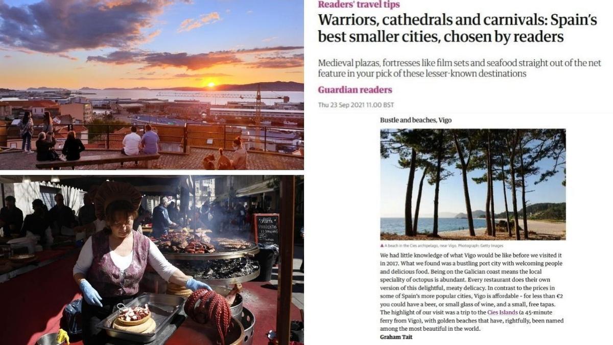 El pulpo, las playas de las Cies y su gente acogedora convierten a Vigo, según The Guardian, en una de las mejores ciudades españolas para visitar.