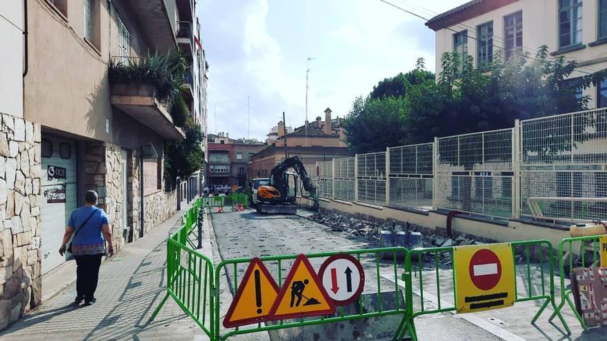 El cap de l'oposició de Figueres qüestiona les obres del carrer Muntaner en l'inici del curs escolar
