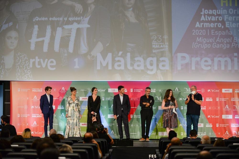Proyección del primer episodio de la serie HIT en el Festival de Málaga.
