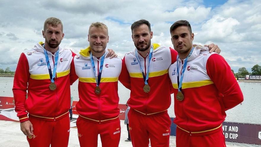 Oro de Marcus Cooper Walz con el K4 español en Hungría