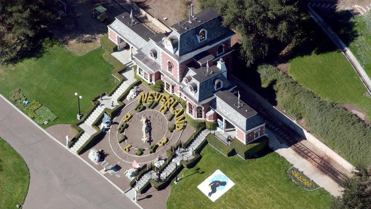 Vista aérea del rancho Neverland