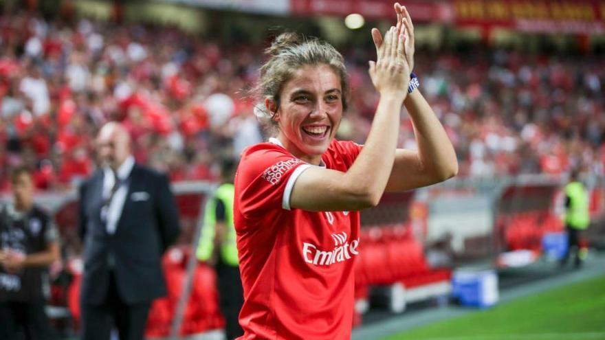 """Paula Domínguez """"Pauleta"""", jugadora del Benfica: """"Vestir la camiseta de España sería un sueño"""""""