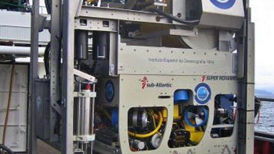 El robot submarino 'Liropus 2000' con el que se busca a Anna y Tomás Gimeno.