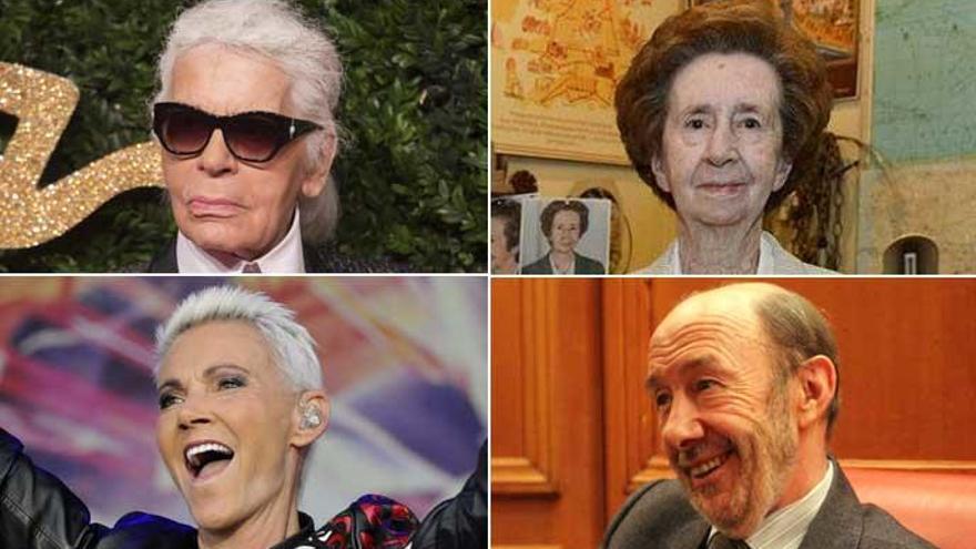 Rubalcaba, Margarita Salas, Lagerfeld y otros personajes que dijeron adiós en 2019