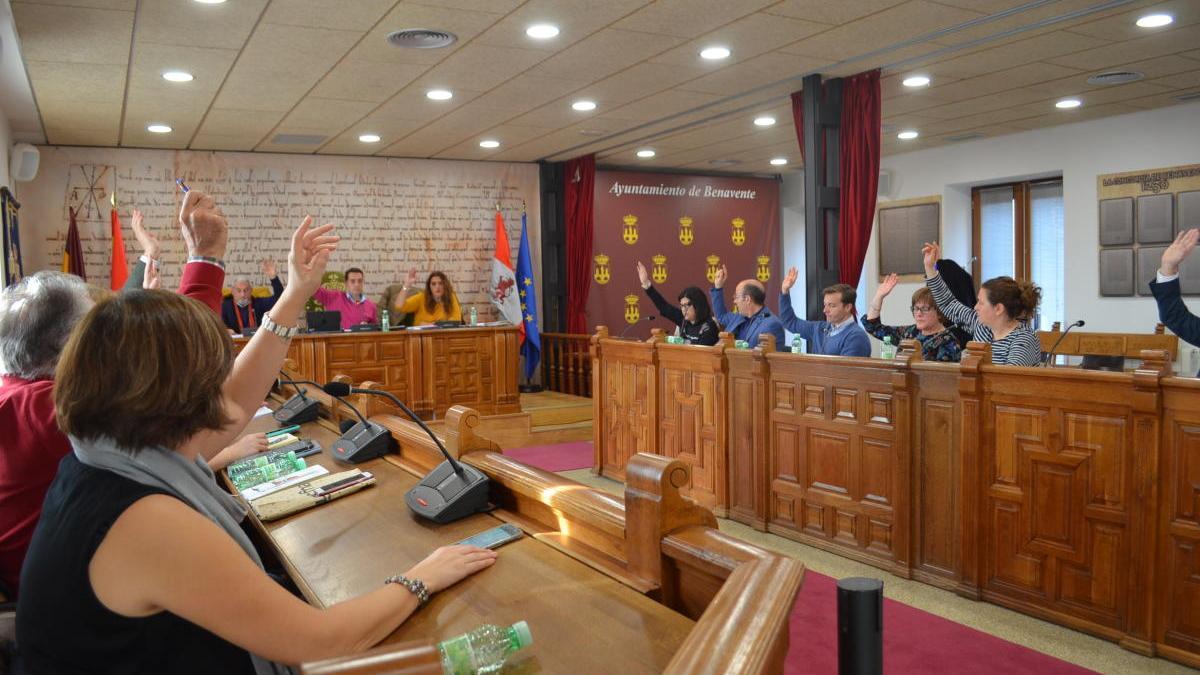 Pleno del Ayuntamiento de Benavente.