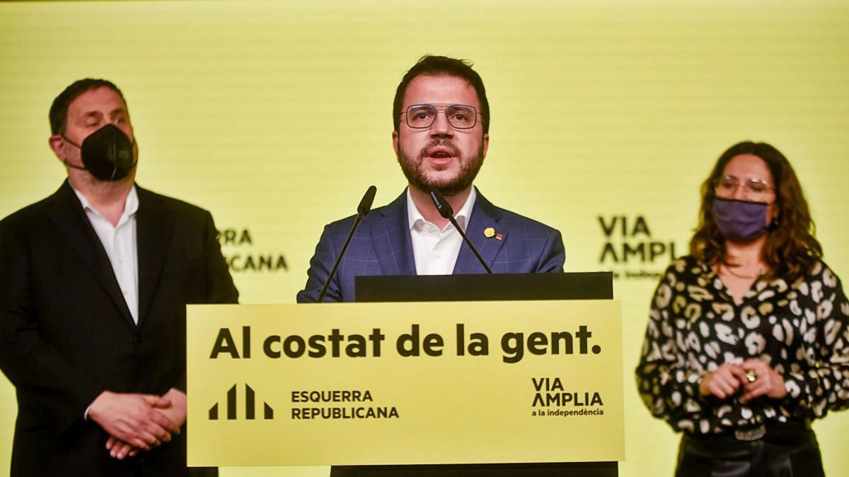 Pere Aragonès es va comprometre a «posar d'acord» totes les forces independentistes