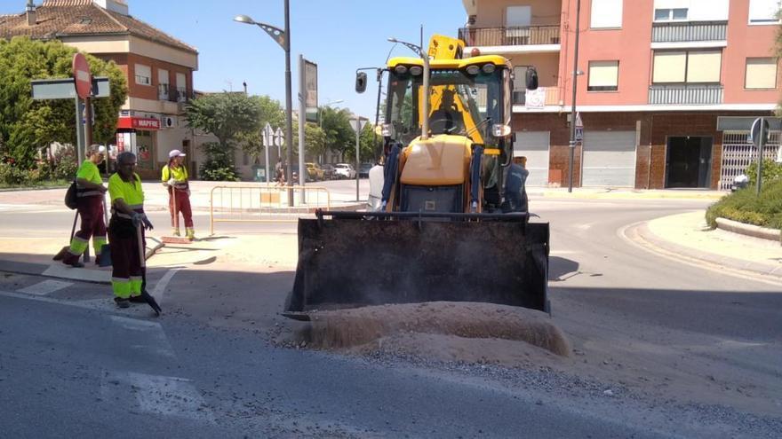 Retiran 56.000 kilos del arrastre causado por la tormenta en Villena
