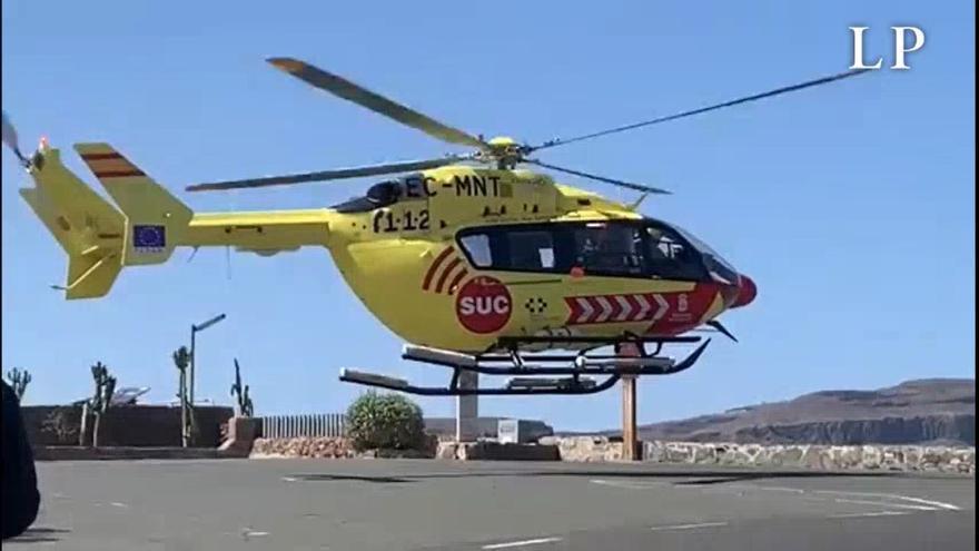 Un motorista resulta herido de gravedad en San Bartolomé de Tirajana