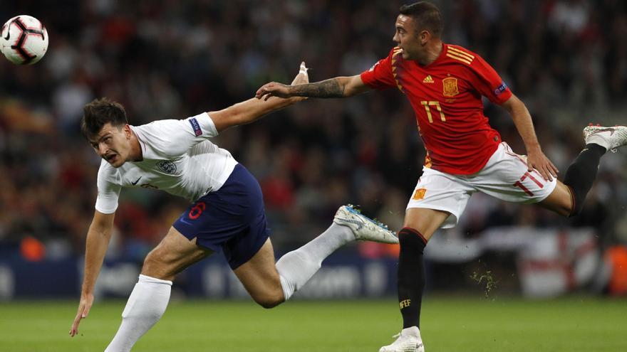 Aspas, durante un partido ante Inglaterra.