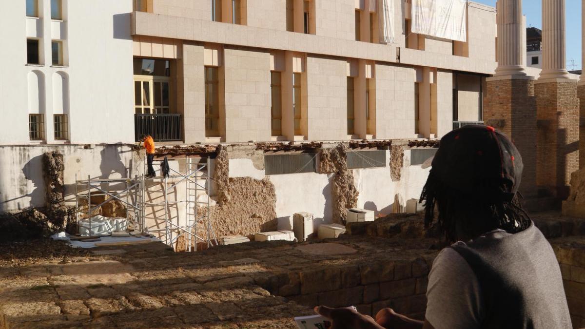 Las obras del Templo Romano se reanudan tras una paralización de dos semanas