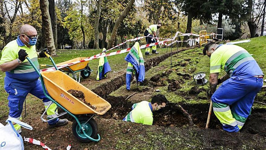 Últimos pasos para devolverle el agua al Campo: Así son las obras para arreglar la fuente de las Ranas