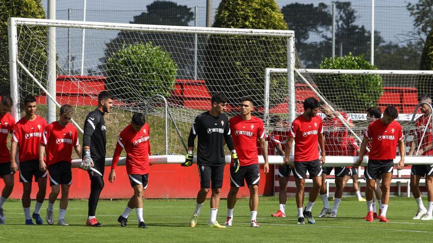 Álvaro Vázquez, Bogdan, Santamaría, David Fernández y Trabanco siguen sin poder reincorporarse al Sporting