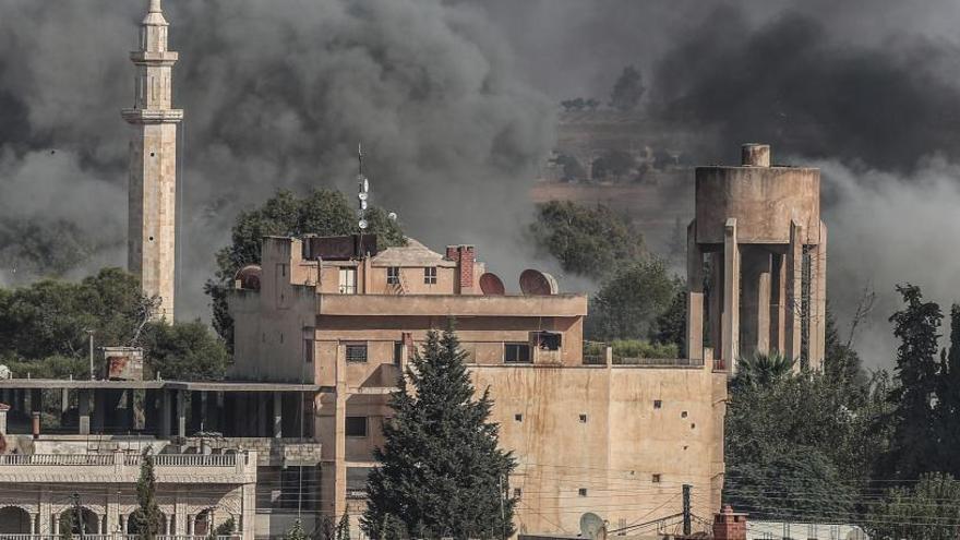 Intenso fuego cruzado en otro día de ofensiva turca en Siria