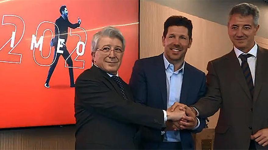 El Atlético de Madrid renueva a Simeone hasta el año 2022