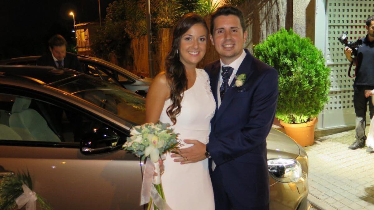 Maje y Antonio el día de su boda.